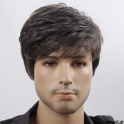 Synthetic Silky Straight Wave wig for men
