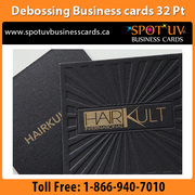 Debossed Business Cards: Raised letter business cards Canada
