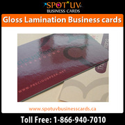Awesome Gloss Laminated Business Cards - Canada