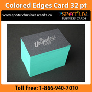 Colored Edge Business Cards - Your business deserves the best: SpotUV